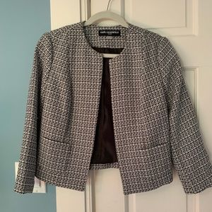 Karl Lagerfeld black and white tweed blazer